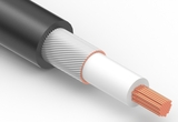 Wire, 1C BC, 18 AWG, UL1185, 300V, 80C, 3.4 mm, shielded, VW-1, PVC, 79A