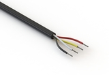 Wire, 4C TS, 24 AWG, UL2464, 300V, 80C, 4.5 mm, VW-1, PVC, 91A