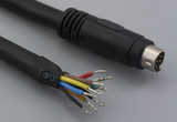 Cable, 1830 mm, 8P mini-DIN male 50-00161, to stripped tinned, 20 AWG, UL2464 30-00028, shielded
