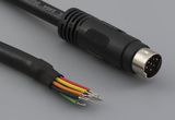 Cable, 1830 mm, 9P mini-DIN male 50-00162, to stripped tinned, 26 AWG, UL2464 30-00058, shielded
