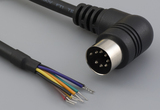 Cable, 1830 mm, 7P 90° DIN male 50-00174, to stripped tinned, 26 AWG, UL2464 30-00064, shielded
