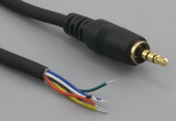 Cable, 1830 mm, 6C 3.5mm 50-00009 plug with ring to stripped tinned, 26 AWG, shielded, TPE, 30-00461