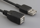 Cable, 100 mm, USB B receptacle to USB A male, 28 AWG, 30-00088 wire