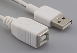 Cable, 100 mm, USB B receptacle to USB A male, 28 AWG, 30-00099 wire, white