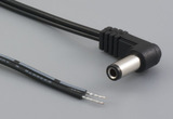 Cable, 1830 mm, 5.5x2.5x12 mm, 90° 50-00258 dc plug to stripped tinned, 24 AWG, 30-00003 wire