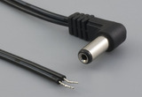 Cable, 1830 mm, 5.5x2.1x12 mm, 90° 50-00383 dc plug to stripped tinned, 24 AWG, 30-00003 wire