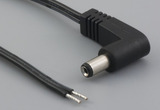 Cable, 1830 mm, 5.5x2.1x10 mm, 90° 50-00370 dc plug to stripped tinned, 18 AWG, 30-00007 wire