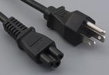 Ac cord, 1000 mm, U.S, NEMA 5-15P plug, TLY-13 to C5, TLY-28, 18 AWG, SVT wire, 30-00244