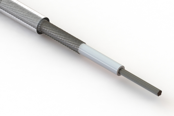 Wire, 1C TS, 26 AWG, UL1185, 300V, 80C, 2.45 mm, shielded, VW-1, PVC, 79A, clear