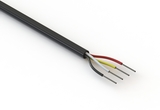 Wire, 4C TS, 22 AWG, UL2464, 300V, 80C, 4.85 mm, VW-1, PVC, 91A