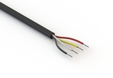Wire, 4C TS, 26 AWG, UL2464, 300V, 80C, 4.25 mm, VW-1, PVC, 91A
