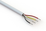 Wire, 4C TS, 26 AWG, UL2464, 300V, 80C, 4.25 mm, VW-1, PVC, 91A, white