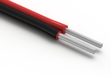 Wire, 2C TS, 18 AWG, UL2468, 300V, 80°C, 4.4 mm, VW-1, PVC, red and black