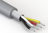 Wire, 4C TS, 28 AWG, 150V, 70C, 2.8 mm, spiral shield, TPU, gray, WBL
