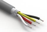 Wire, 4C TS, 18 AWG, UL20549, 300V, 80C, 6.8 mm, shielded, VW-1, TPU, gray