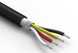 Wire, 4C TS, 24 AWG, UL20549, 300V, 80C, 5.2 mm, shielded, VW-1, TPU
