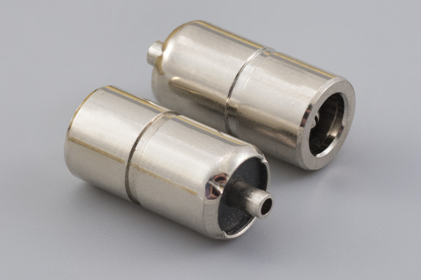 Connector, dc jack, 5.2x2.15xL17.4 mm, molding style