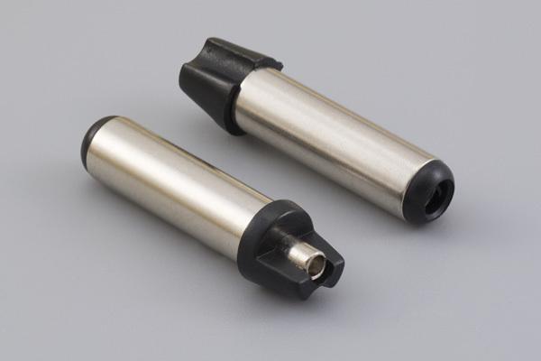 Connector, dc plug, 5.0x2.5xL22.5 mm, molding style