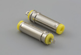 Connector, dc plug, 4.75x1.7xL20 mm, brass nickel plated, yellow insulator