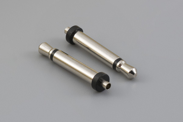 Connector, mono plug 2.5xL17.5 mm, brass nickel plated