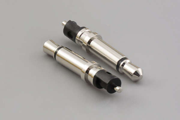 Connector, mono plug, 3.5xL23.5 mm, brass, nickel plated, molding style