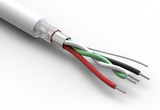 Wire, 4C, 1PR + 2C, 28 AWG, UL2725, 30V, 80C, 3.6mm, shielded, VW-1, PVC, 79A, USB 2.0, white
