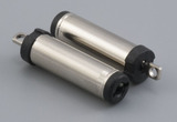Connector, dc plug, 5.5x2.1x23 mm, molding style, spring contacts, nickel plated, 105 °C