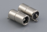 Connector, dc jack, 5.5x2.1x17.6 mm, molding style, spring contacts, nickel plated, 105 °C