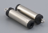Connector, dc plug, 5.5x2.5x23 mm, molding style, spring contacts, nickel plated, 105 °C