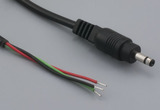 Cable, 1830 mm, 3.2x0.9x9.0 mm, 3 conductor 50-00074 plug to stripped tinned, 24 AWG, 30-00006 wire