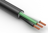 Wire, 3C, 18 AWG, UL SVT, 300V, 105C, 6.3 mm, VW-1, PVC