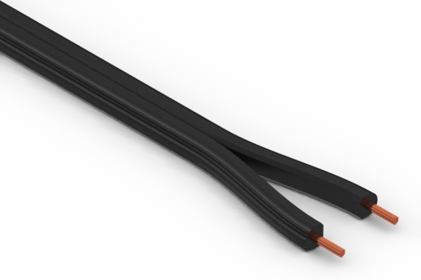 Wire, 2C, 18 AWG, UL SPT-2, 300V, 105C, 7.05 mm, VW-1, PVC
