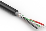 Wire, 4C, 1PR 28 AWG, 2C 26 AWG, UL2725, 30V, 80C, 4.3 mm, shielded, VW-1, PVC, 79A, USB 2.0