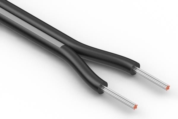 Wire, 2C TS, 24 AWG, UL2651, 300V, 105C, 3.0 mm, VW-1, PVC
