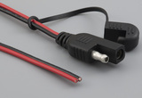 Cable, 1830 mm, 50-00550 SAE to blunt cut, 16 AWG, UL2651, 30-00792, R-B wire, black to SAE pin