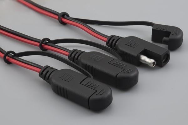 Cable, 305 mm, 50-00550 SAE to Y split to two 50-00550 SAE, 16 AWG, UL2651, 30-00792, R-B wire, caps