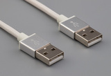 Cable, 1000 mm, 50-00575 USB A plug to same, 28 AWG, 30-00099 wire, white