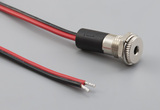 Cable, 305 mm, 3.5x1.35 mm 54-00061 dc panel mount jack to stripped and tinned, 18 AWG, 30-00415